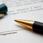 Sign license agreement